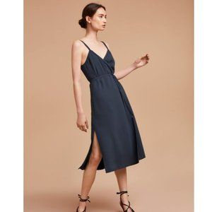 Aritzia Wilfred Astere Faux-Wrap Midi Dress